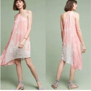 Anthropologie Silk Asymmetrical Dress